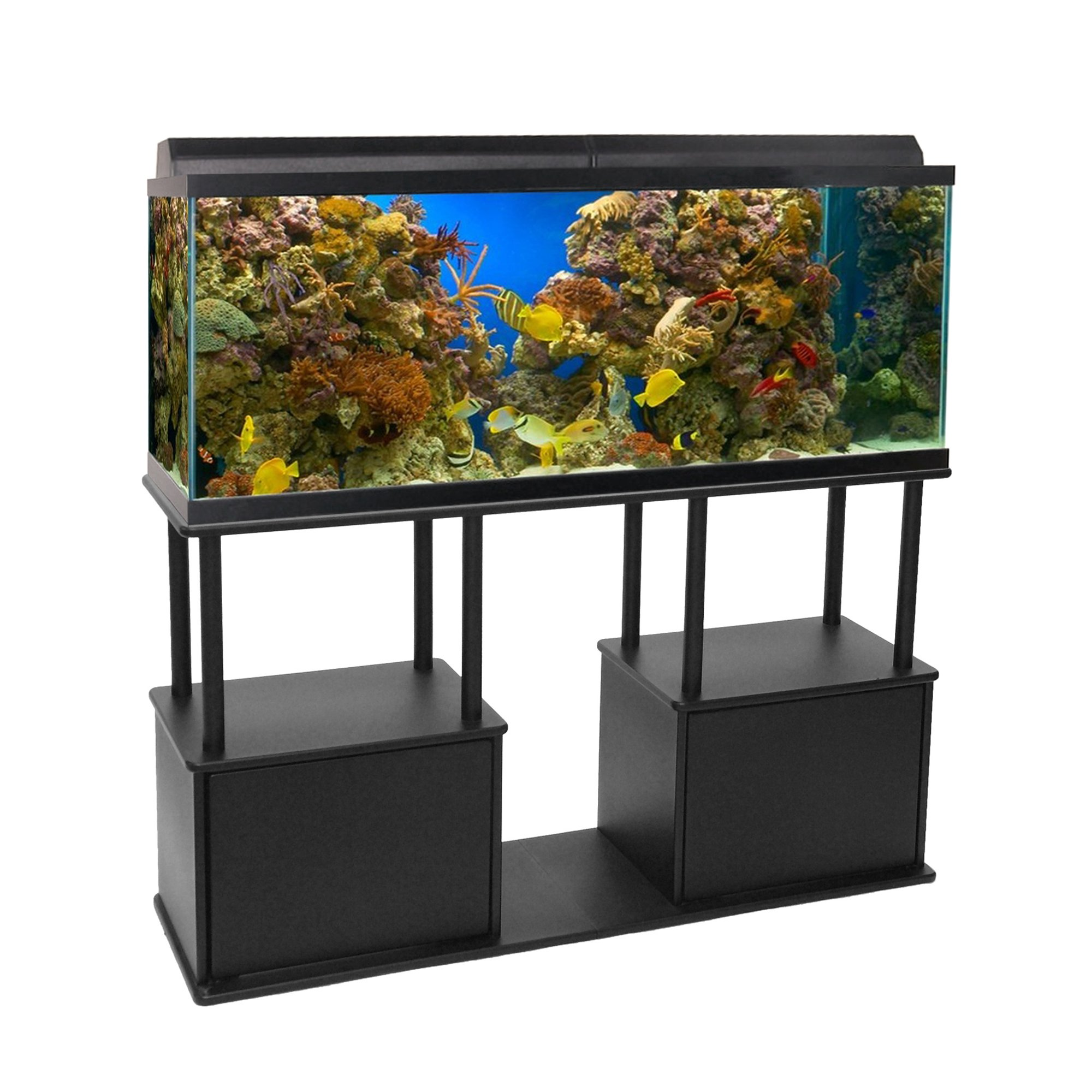 Aquatic fundamentals 55 gallon aquarium stand with shelf for 55 gal fish tank stand