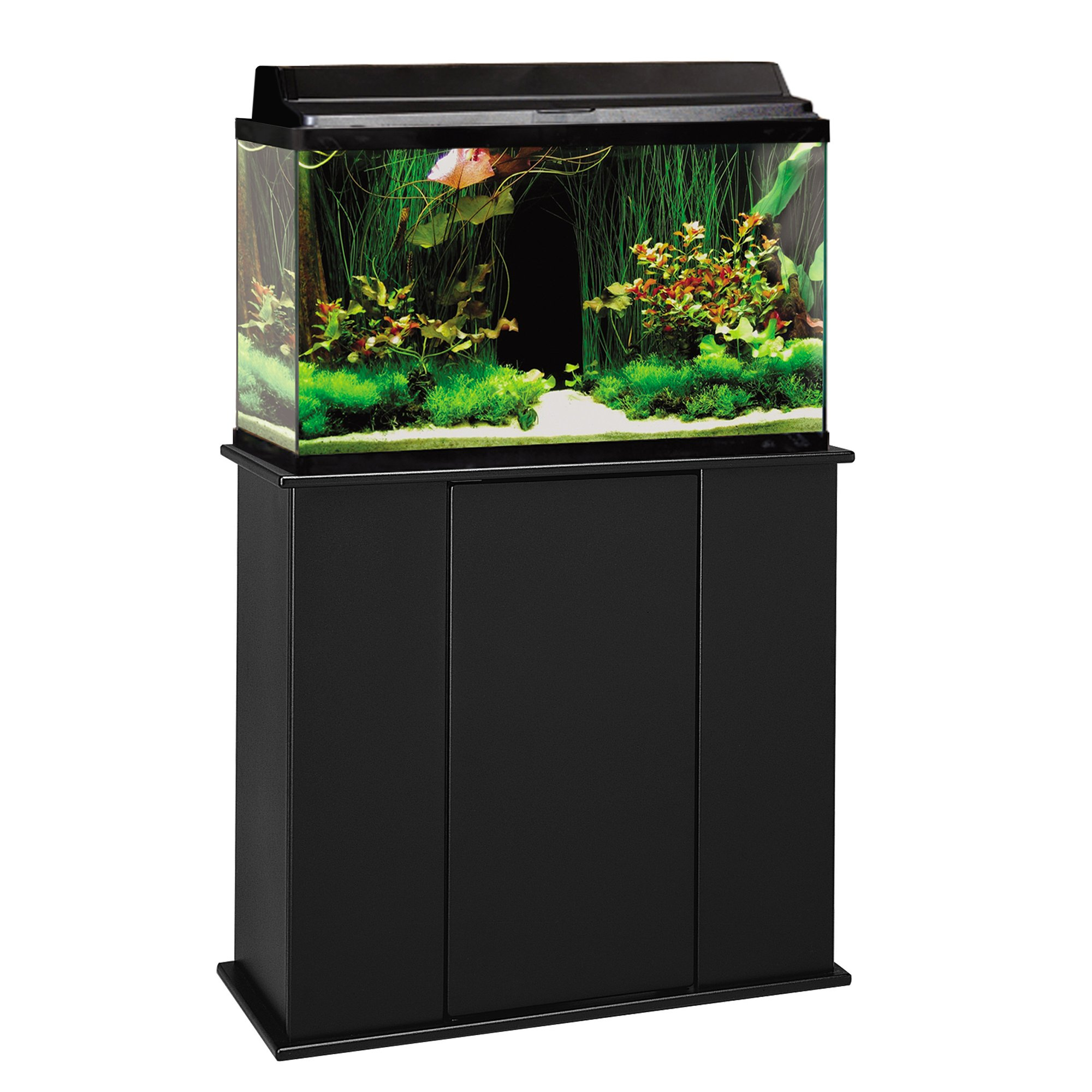Aquatic fundamentals 29 37 gallon upright aquarium stand for 55 gallon fish tank petco