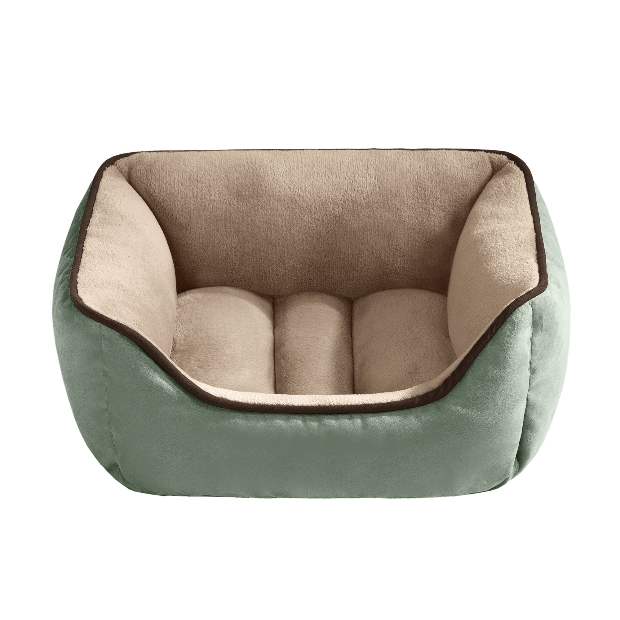 halo reversible rectangular cuddler pet bed in celadon