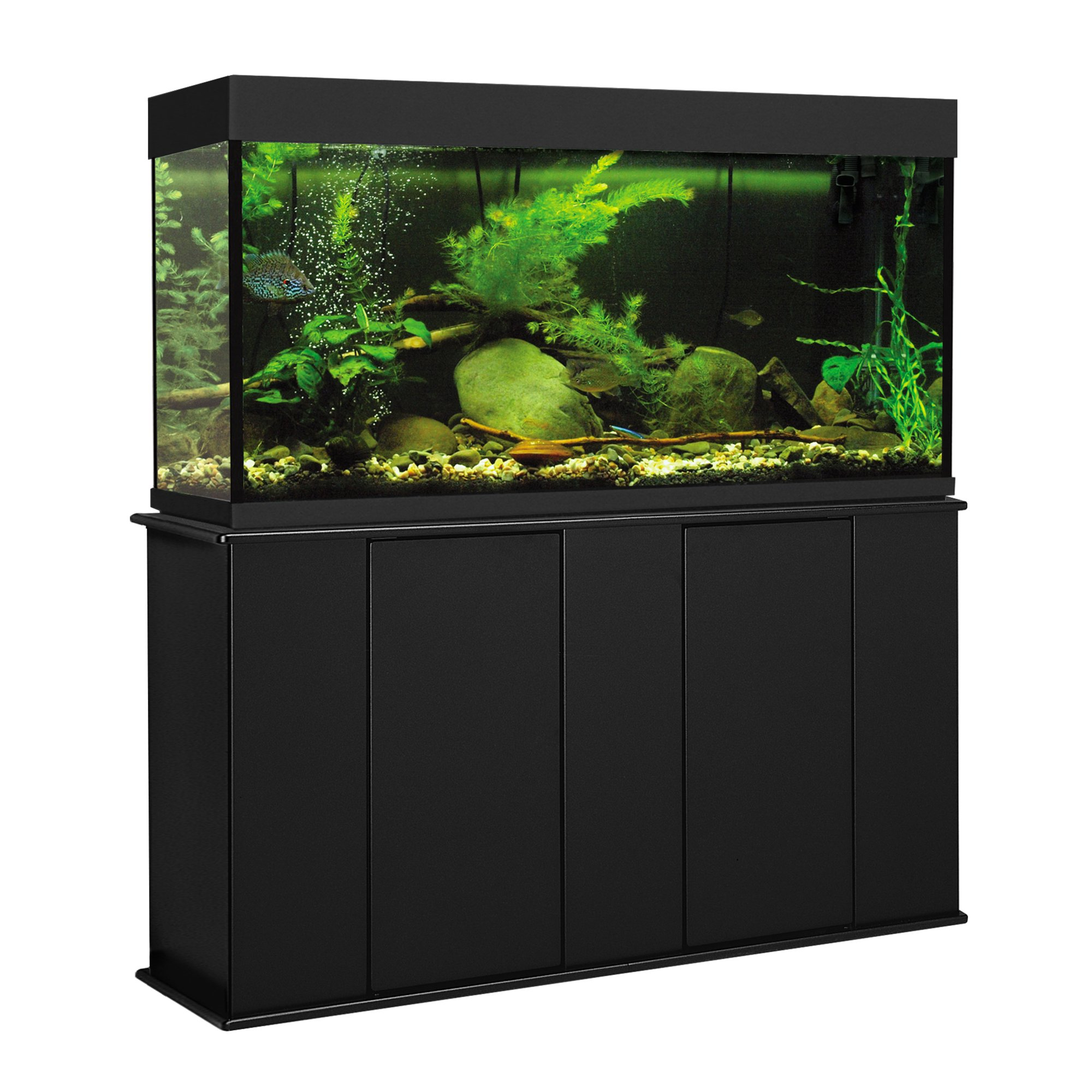 Aquatic fundamentals 55 gallon upright aquarium stand petco for Square fish tank