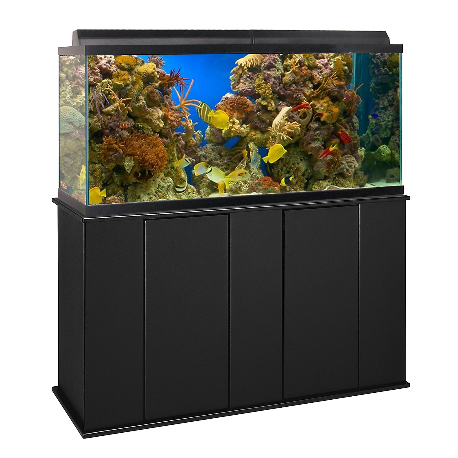 Aquatic Fundamentals 75 Gallon Upright Aquarium Stand 75 90 Gallons Black