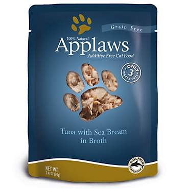 Applaws Tuna with Sea Bream in Broth Pouch Grain Free Cat Food