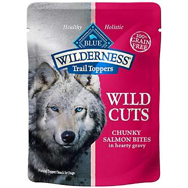 Blue Buffalo Blue Wilderness Trail Toppers Salmon Wild Cuts Dog Food Topper