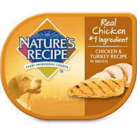 Nature's Recipe Chicken & Turkey in Broth Adult Dog Food Tray