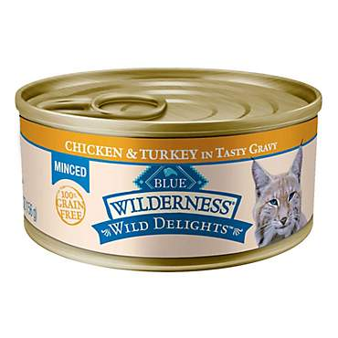 Blue Buffalo Blue Wilderness Wild Delights Adult Minced Chicken & Turkey Recipe Wet Cat Food