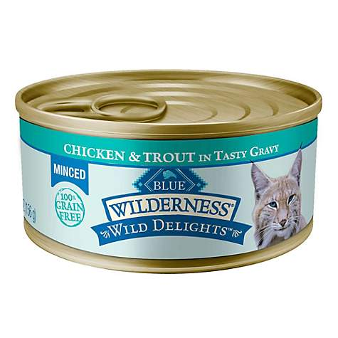 Blue Buffalo Blue Wilderness Wild Delights Adult Minced Chicken & Trout Recipe Wet Cat Food
