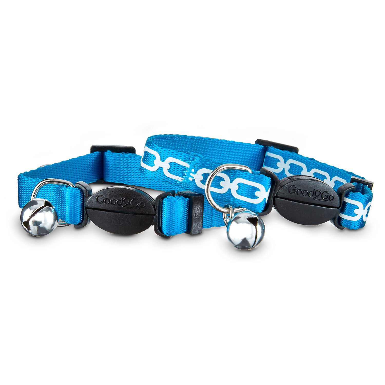 Good2go Blue Link Breakaway Cat Collars For Necks 8 12 One Size Fits All