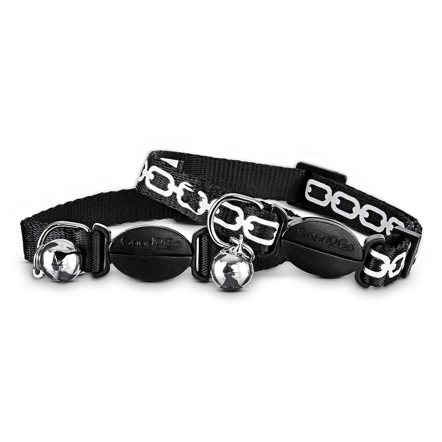 Good2go Black Link Breakaway Cat Collars For Necks 8 12 One Size Fits All