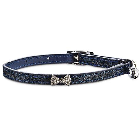 Bond & Co Navy Glitter Bow Tie Cat Collar