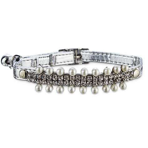 Bond & Co Precious Metal Pearl Cat Collar