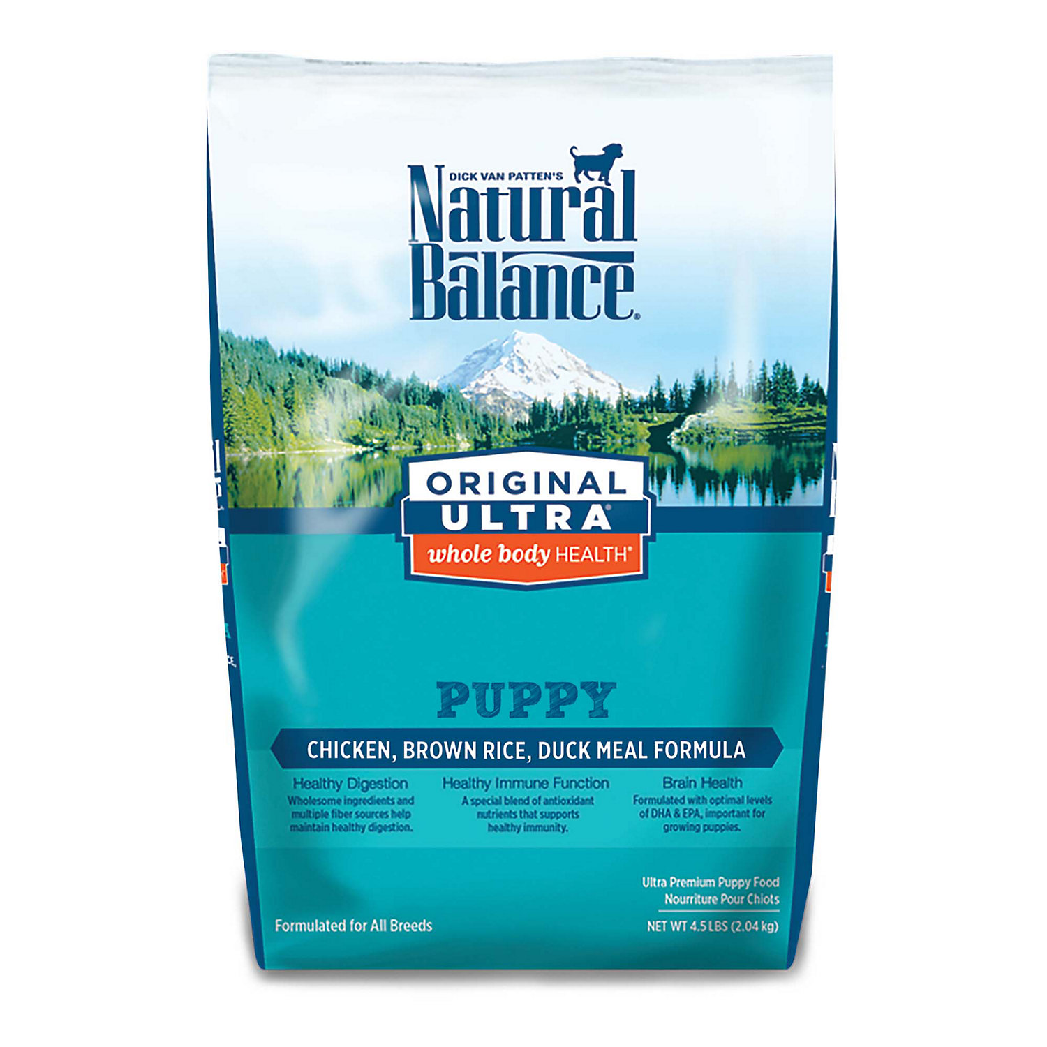 Natural Balance Original Ultra Whole Body Health Chicken Brown Rice Duck Meal Puppy Food 4.5 Lbs.