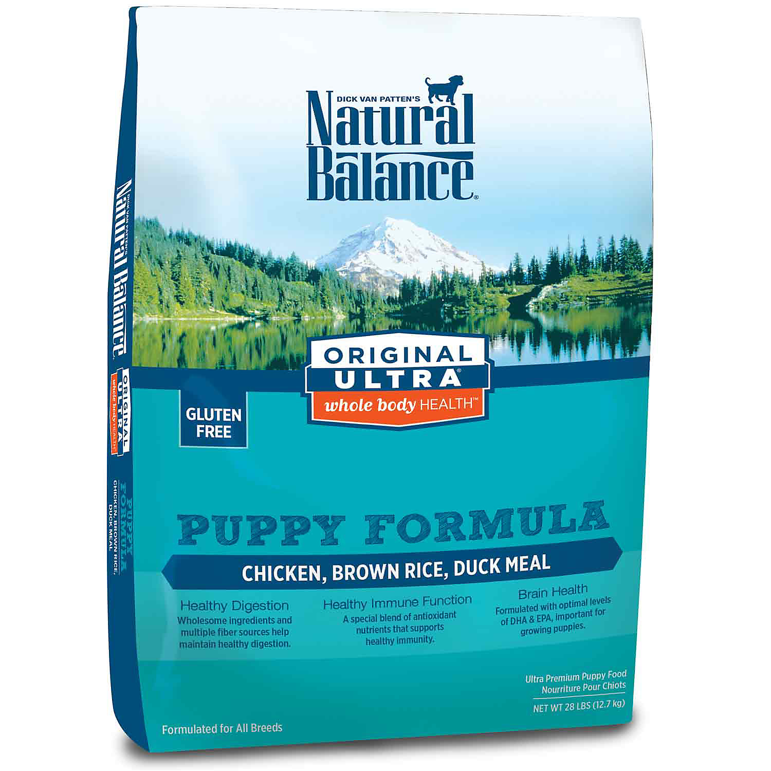 Natural Balance Original Ultra Whole Body Health Chicken Brown Rice Duck Meal Puppy Food 28 Lbs.