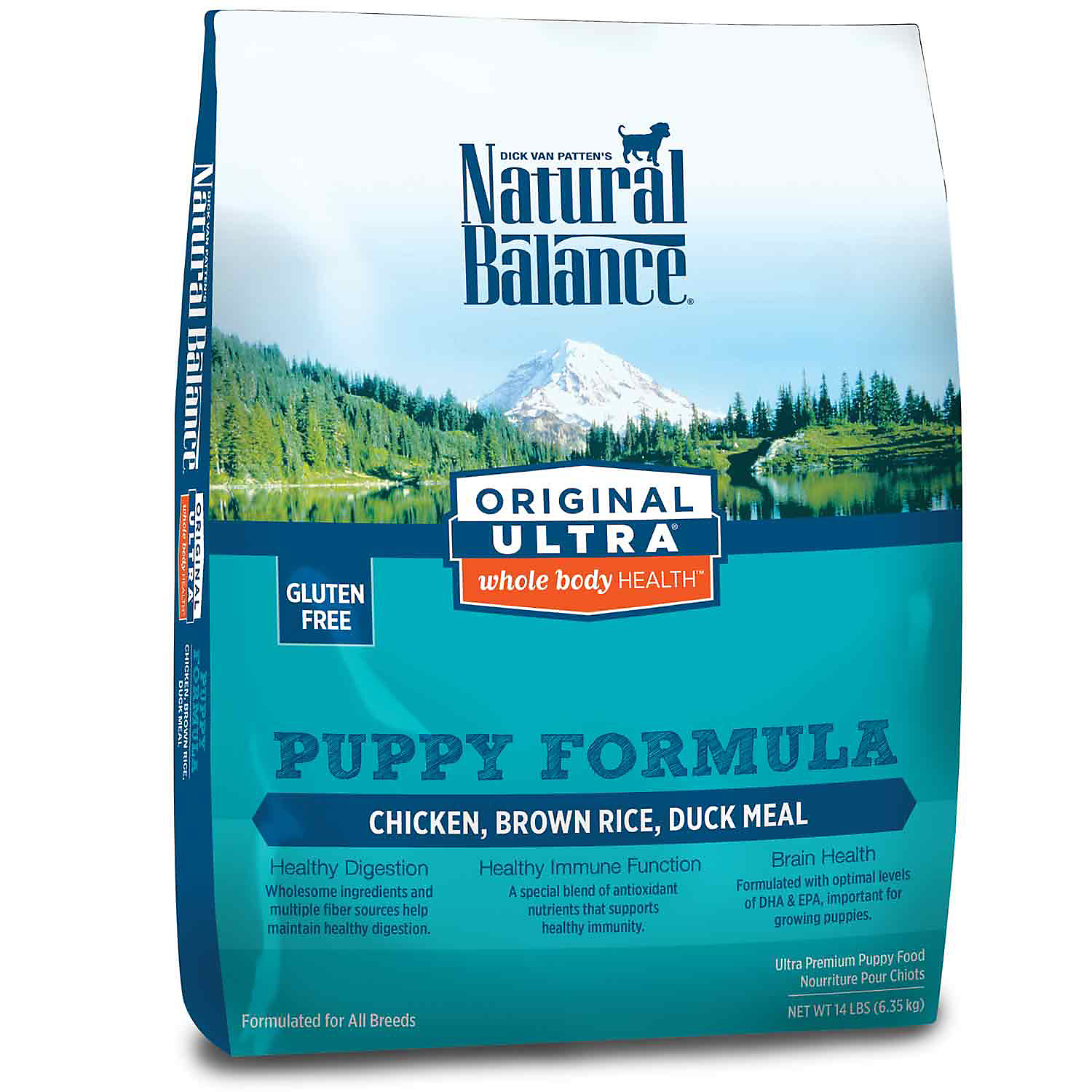 Natural Balance Original Ultra Whole Body Health Chicken Brown Rice Duck Meal Puppy Food 14 Lbs.