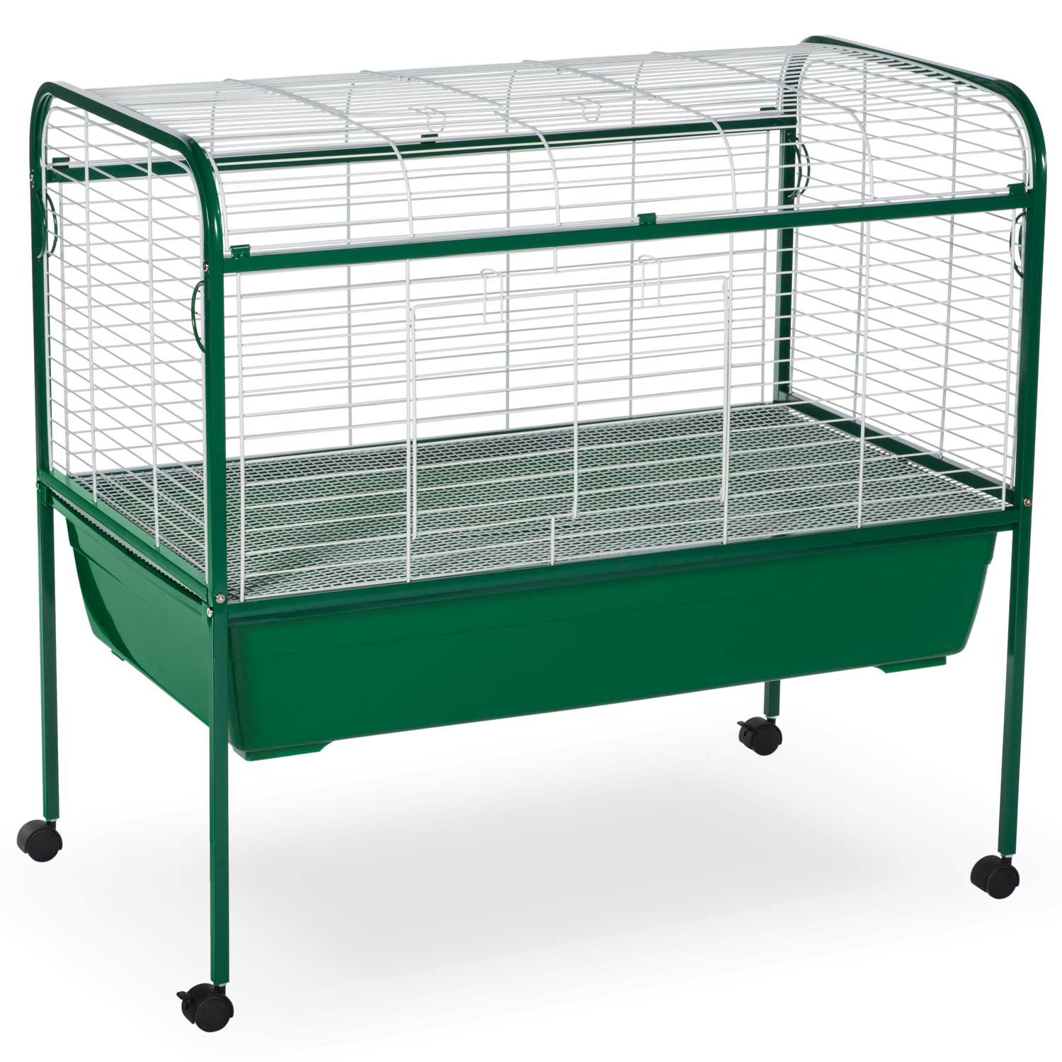 Prevue hendryx green white small animal cage with stand for Small guinea pig cages for sale