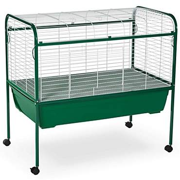 Prevue Pet Products Green & White Small Animal Cage with Stand