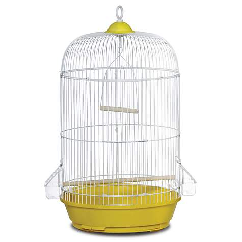 Prevue Hendryx Classic Round Bird Cage in Yellow