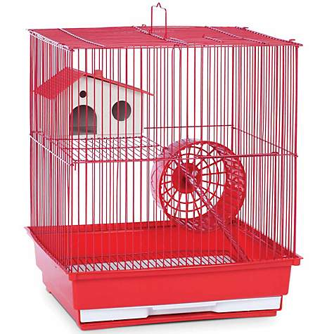 Prevue Hendryx Two Story Red Small Animal Cage