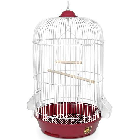 Prevue Hendryx Classic Round Bird Cage in Red