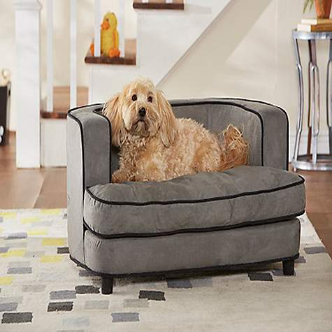 Enchanted Home Pet Cliff Sofa Dog Bed In Gray