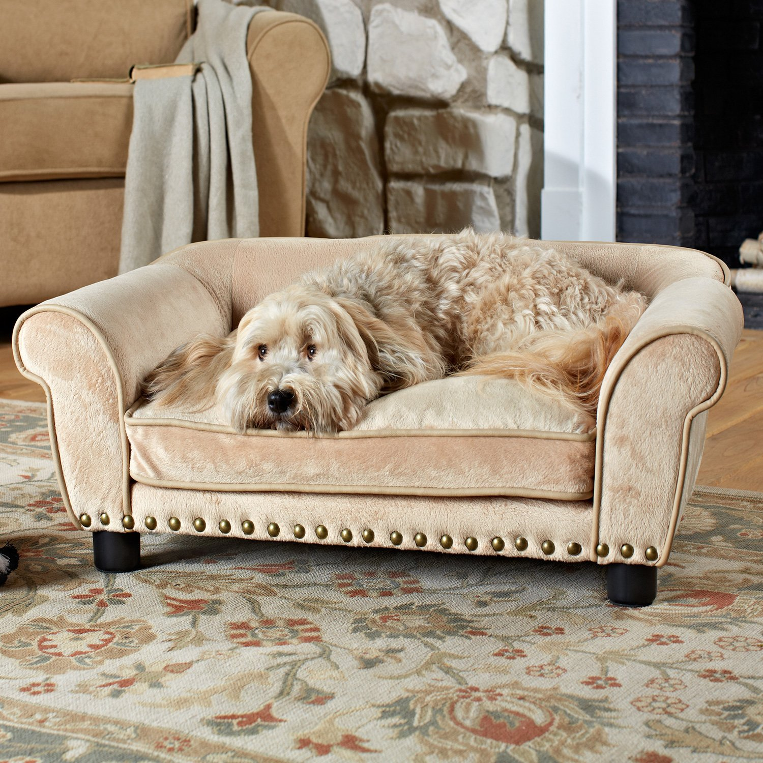 Enchanted Home Pet Dreamcatcher Sofa Dog Bed in Cream