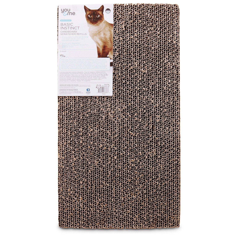 You Amp Me Double Wide Cardboard Cat Scratcher Refills Petco