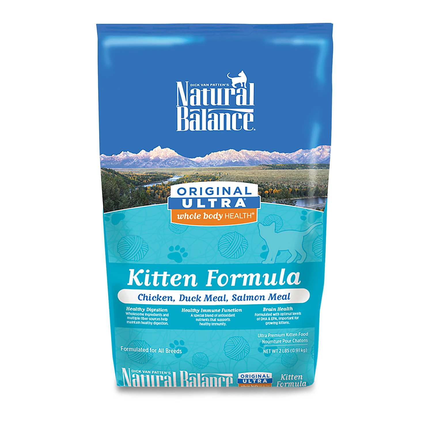 Natural Balance Original Ultra Whole Body Health Chicken Duck Meal Salmon Meal Kitten Food 2 Lbs.