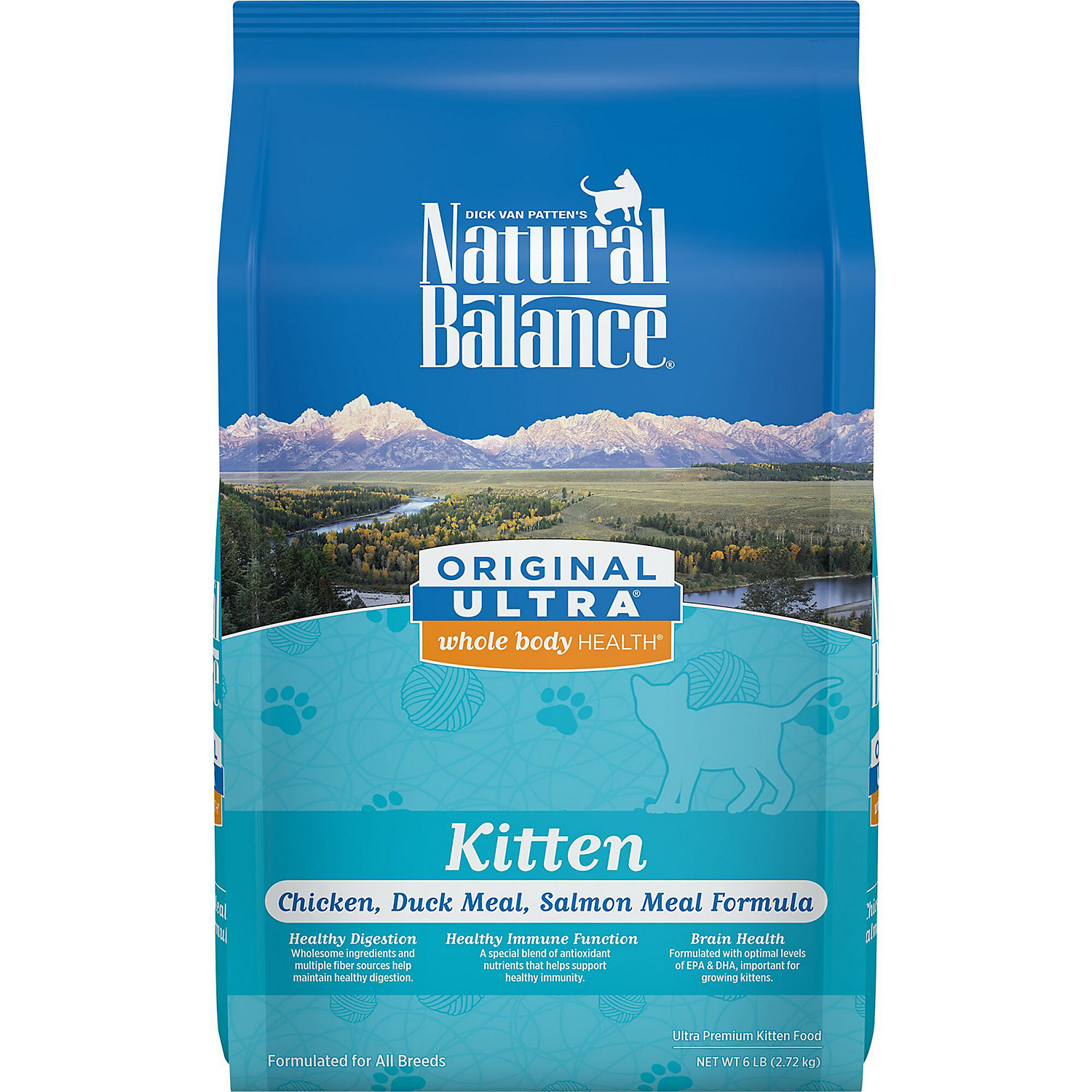 Natural Balance Original Ultra Whole Body Health Chicken Duck Meal Salmon Meal Kitten Food 6 Lbs.