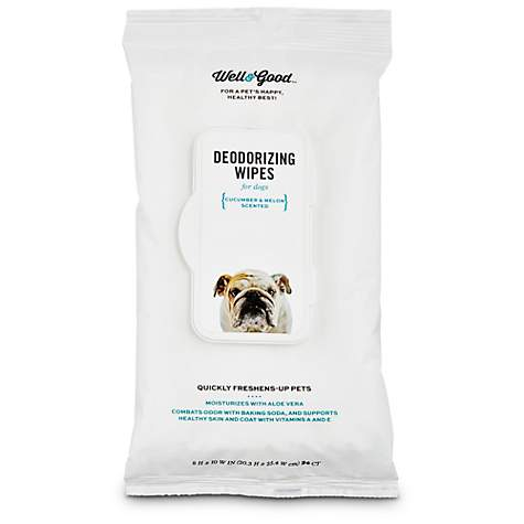 Well & Good Cucumber Melon Deodorizing Dog Wipes