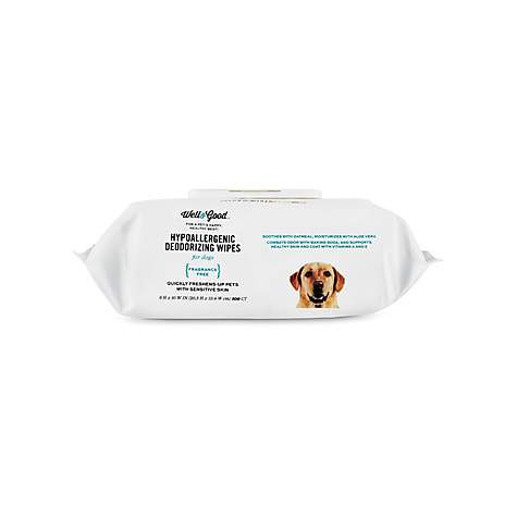 Well Good Hypoallergenic Deodorizing Dog Wipes Pack Of 100 Wipes