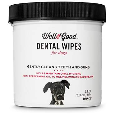 Well & Good Dog Dental Wipes
