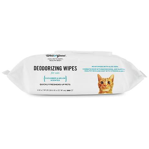 Well & Good Deodorizing Cucumber Melon Cat Wipes