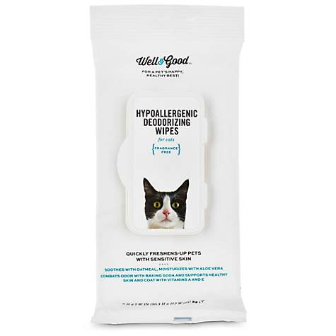 Well & Good Hypoallergenic Deodorizing Cat Wipes