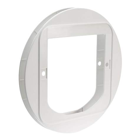 SureFlap Cat Flap Mounting Adapter in White
