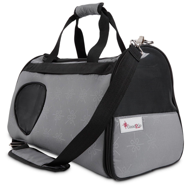 good2go ultimate pet carrier in gray u0026 black