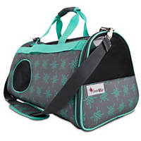 Good2Go Ultimate Pet Carrier in Gray & Aqua