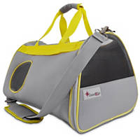 Good2Go Ultimate Pet Carrier in Gray & Yellow
