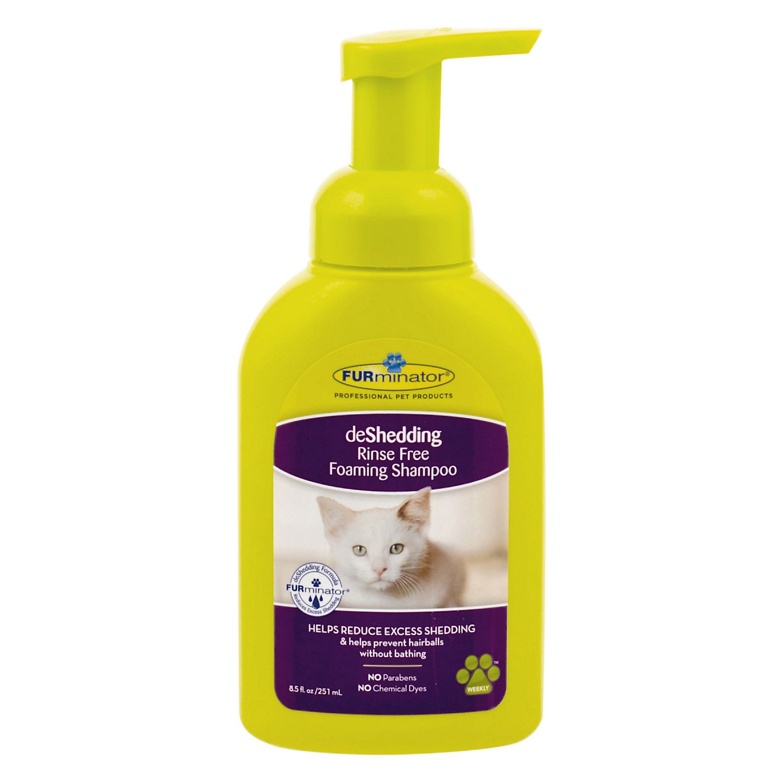 Furminator Deshedding Rinse Free Foaming Shampoo For Cats, 8.5 Oz.
