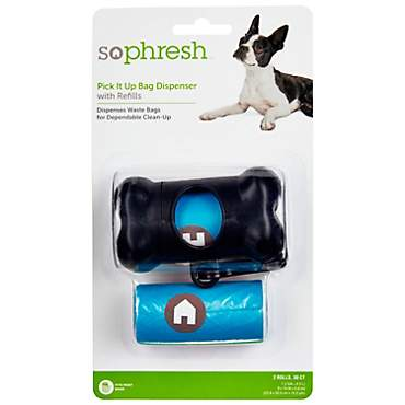 So Phresh Pick It Up Bone Shaped Dog Bag Dispenser with Refill