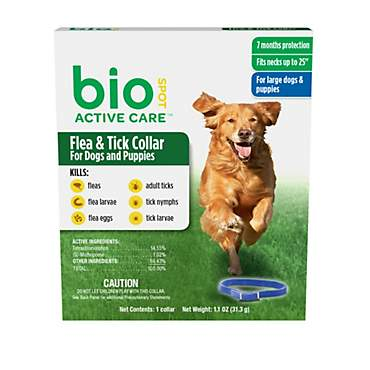 Bio Spot Active Care Flea Tick Dog Collar