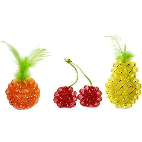 Leaps & Bounds Mesh Fruit Cat Toy in Assorted Styles