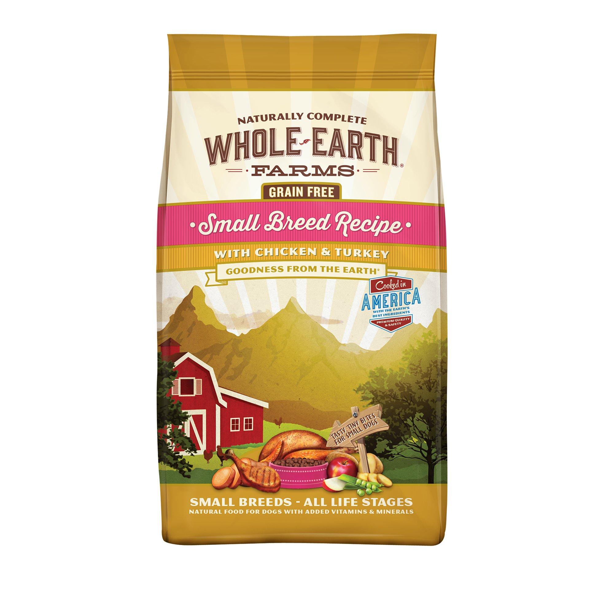 Whole Earth Farms Grain Free Small Breed Chicken & Turkey Dog Food