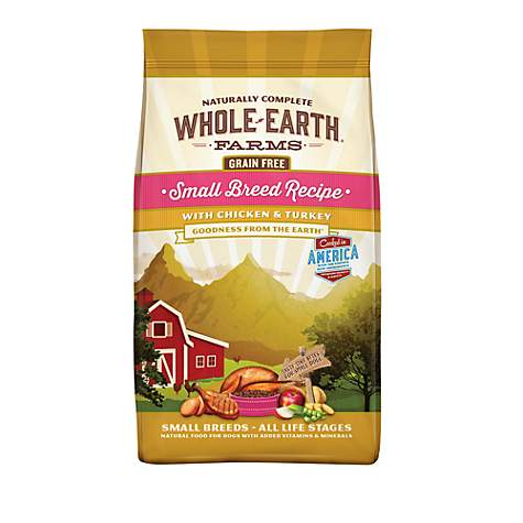 Whole Earth Farms Grain Free Small Breed Recipe with Chicken & Turkey Dry Dog Food