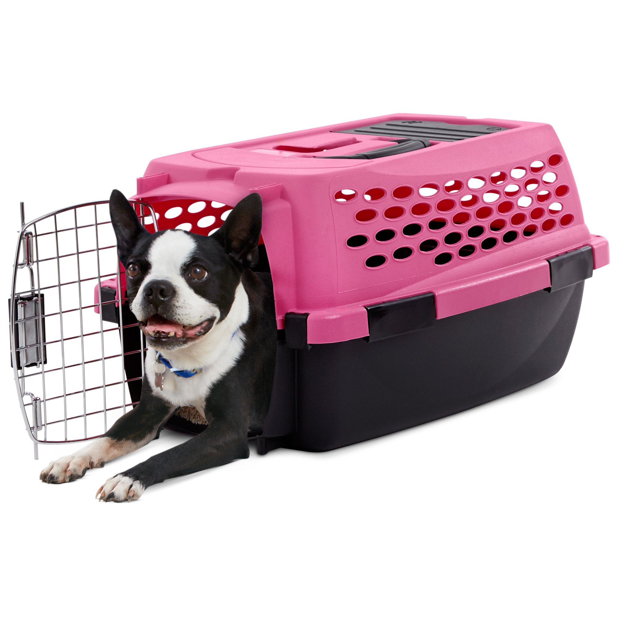 you  me relaxing refuge dog kennel pink   petco -