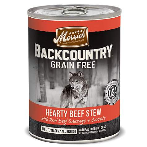 Merrick Backcountry Hearty Beef Stew Grain Free Wet Dog Food