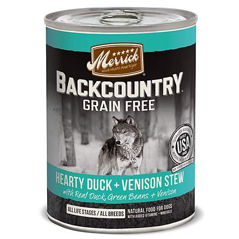 Merrick Backcountry Hearty Duck & Venison Stew Grain Free Wet Dog Food