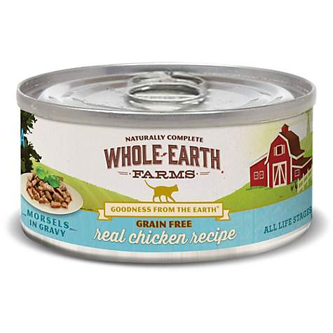 Whole Earth Farms Grain Free Real Chicken in Gravy Canned Cat Food