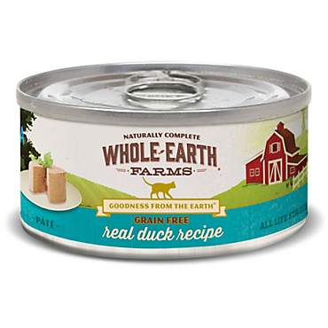 Whole Earth Farms Grain Free Real Duck Canned Cat Food
