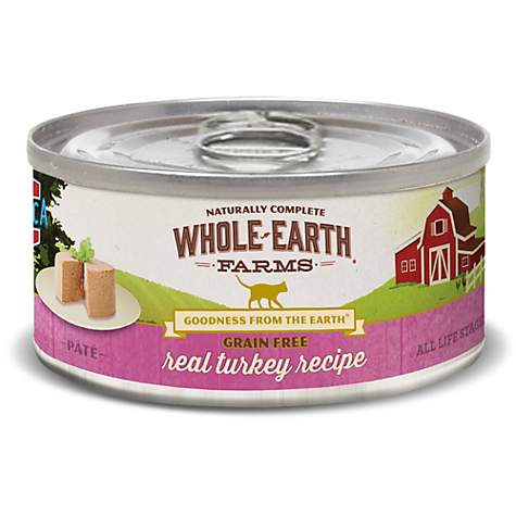 Whole Earth Farms Grain Free Real Turkey Canned Cat Food