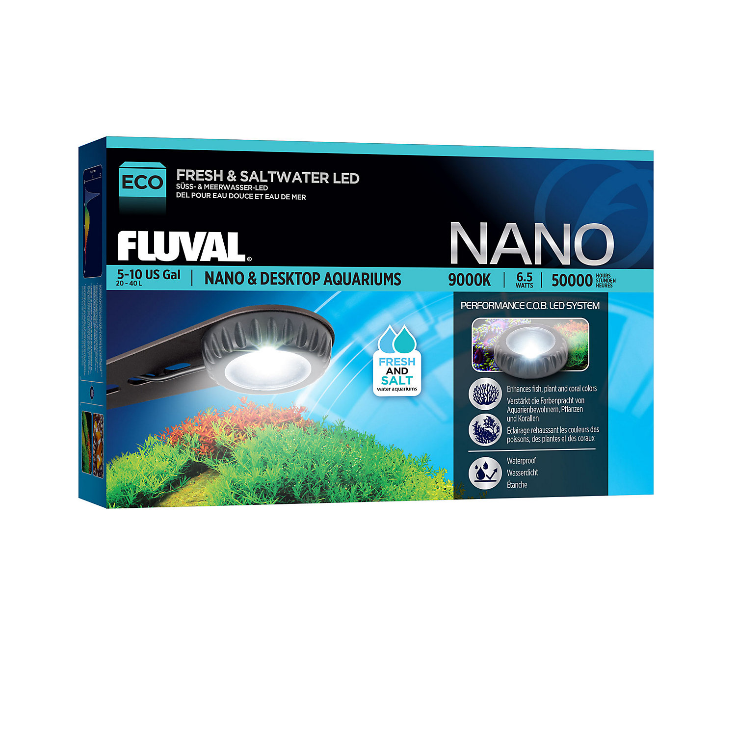 Fluval Eco Nano Desktop Led Aquarium Light
