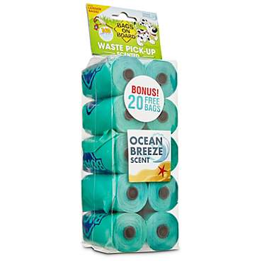 Bags on Board Ocean Breeze Scent Doggie Clean-Up Bags